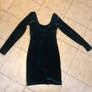 Body con velvet dress
